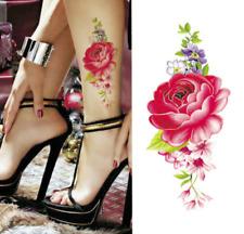 2017 Waterproof temporary tattoos stickers sexy romantic dark rose flowers henna