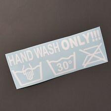 Hand wash only Shocker dapper Auto Aufkleber Sticker JDM Tuning fun stickerbomb