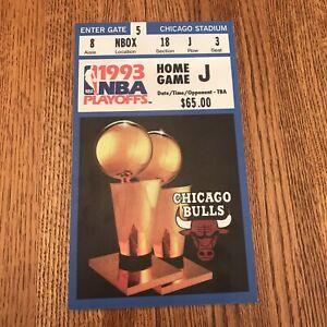 1993 NBA Playoffs Chicago Bulls Michael Jordan Last Dance 10x6 Ticket Poster