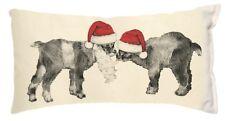 New Baby Santa Christmas Holiday Goat Kid Pillow ~ Eric & Christopher ~ Usa