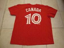MLB Toronto Blue Jays Edwin Encarnacion CANADA DAY Rare jersey style T shirt L