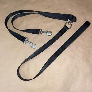 TWO DOG LEASH HEAVY WEIGHT NYLON LARGE BREED LEASH DOUBLE COUPLER MADE IN USA