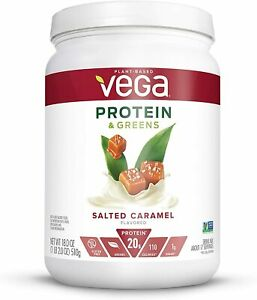 Vega Plant Based Protein & Greens Salted Caramel 17 Servings 18oz