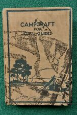 Collectable 'Campcraft for Girl Guides'  The Girl Guides Association 1935