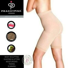 PEACHY PINK ANTI-CELLULITE SHAPEWEAR HIGH WAISTED SHORT PANTS SLIMMING NUDE