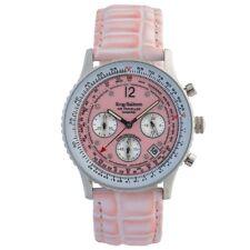 Krug Baumen 400515DS Air Traveller Pink Dial Pink Strap RRP £750
