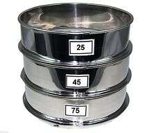 Aluminum Herbal Pollen Hash Extractor stackable sifter 25, 45, 75 Micron Screen