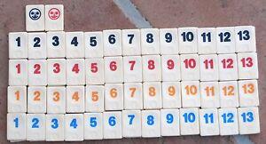 Travel Rummikub spare number tile plain back choose colour/number