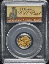 1.5 Grams Gold Dust Pcgs Sacramento Assayer Hoard
