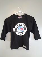 NEW YORK RANGERS Hockey CCM Center Ice Jersey NHL Black Men's Large Mesh Vintage