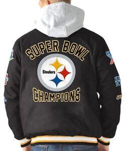 "Pittsburgh Steelers G-III NFL ""Glory"" Super Bowl Commemorative Varsity Jacket"