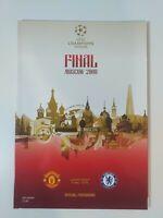 2008 CHAMPIONS LEAGUE FINAL PROGRAMME CHELSEA V MANCHESTER UNITED