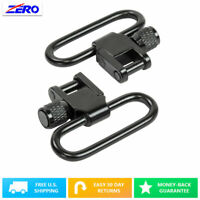 "1"" Lockable Sling Swivels 2PCs/ Pair Set Studs Metal Hunting Rifles Shotguns"