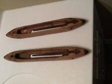 2- Vintage Boat Shuttle Bobbins for hand weaving textiles