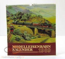 Modellbahnkalender 1989 Verlag Bild und Heimat Karl Köhler und Plauen