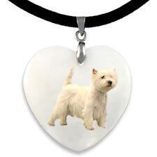 5 Plata Tibetana Perro Escocés Westie encanto Colgante
