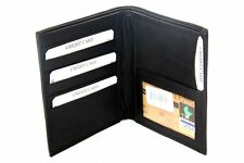 Leather Large Hipster Bifold 7 Credit Card ID Black Men's Wallet