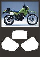 Tabelle Kawasaki KLR 600 dal1984 bianca - adesivi/adhesives/stickers/decal