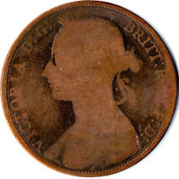 1887 ONE PENNY OF QUEEN VICTORIA      #WT1619