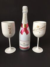 "Moet Chandon Ice Imperial ""Rose"" Champagner 0,75l 12% Vol + 2 Ice Acryl Gläser"