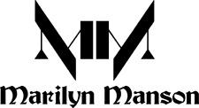 Marilyn Manson + Logo Auto Deko Folie 20 x 11 cm viele Farben