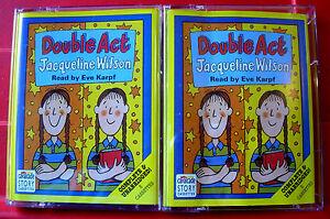 Jacqueline Wilson Double Act 3-Tape UNABRIDGED Audio Book Eve Karpf