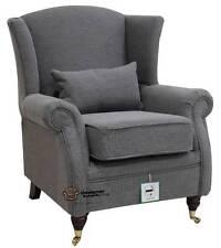 Ashley Fireside High Back Wing Armchair Verity Steel Grey Fabric
