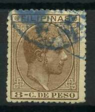 Filippine 1880 Mi. 69,74 Usato 60% Re Alfons XII