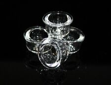 (4) GLASS REPLACEMENT BOWLS for SILICONE PIPES Bowl