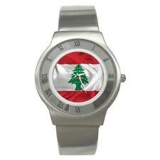 NEW LEBANESE LEBANON FLAG MENS WATCH
