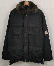 US POLO ASSN Parka Mens L Coat Jacket Black Fur Heavyweight Zip Men's Size Large
