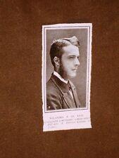 Rara stampa dei primi del 1900 Il Presidente Antonio Salandra di Troia a 20 anni
