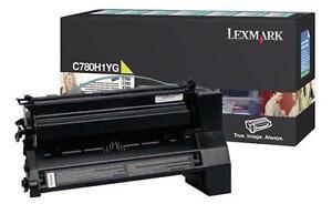 Genuine Lexmark C780H1YG Yellow Laser Toner Cartridge High Yield 10K