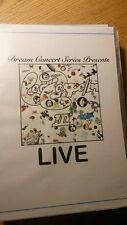 Dream Concert Series Presents: Led Zeppelin's Led Zeppelin 3 LIVE on DVD !! rare