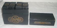Vintage 1925 Congress Duplicate Bridge Four Board Set with Linen Playing Cards