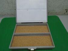 1 MicroScope Slide Cases Holds 100 Slides Plastic Metal Clasp Used