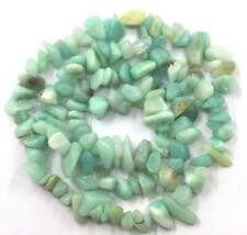 "4-7mm loose beads amazonite irregular shape jewelry gemstone making chips 16"""