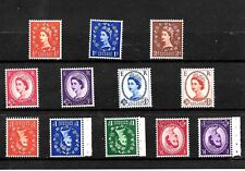 1958 (C702) GRAPHITE LINE COLLECTION X 7 UPRIGHT AND 5 INVERTED  UMM MNH