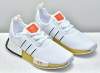 New adidas Originals NMD R1 Tokyo Mens athletic sneaker white gold all sizes