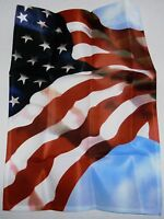 """Decorative Patriotic Garden Flag  12.5"""" X 18""""  MAY SHE FLY WITH PRIDE"""