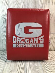"""Grogan's Martial Arts Square Hand Held Training Target  1022 Red 11"""" x 9"""""""