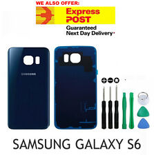 Samsung Galaxy S6 Black Back Rear Glass Housing Battery Cover Case FREE TOOL