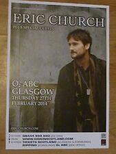 Eric Church - Glasgow feb.2014 tour concert gig poster