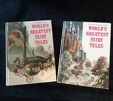 "THE WORLD'S GREATEST FAIRY TALES TREASURY & SECOND TREASURY Danbury Press ""1972"""