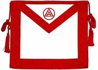 Masonic Royal Arch Mason Member Synthetic LEATHER Apron Tassels Rope Freemasonry