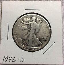 1942-S Walking Liberty 90% Silver Half Dollar (Lot#93)