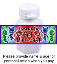 30 PJ Masks Time To Be A Hero Birthday Party Stickers Labels For Mini Bubbles