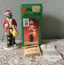 Emmett Kelly Jr. Christmas Ornament Porcelain Clown W/Box Flambro 9657 Bell/Sack