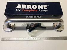 """""""ARRONE"""" Alu Pull D maniglie a scomparsa. 225 mm 9"""" CON ROSE IN RASO ARGENTO"""