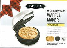 Bella ~ Mini Snowflake Waffle Maker New In Box Great Holiday Gift